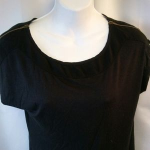 Anthropologie Black Knit Blouse,S